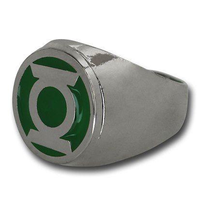 Green Lantern Symbol Stainless Steel Ring