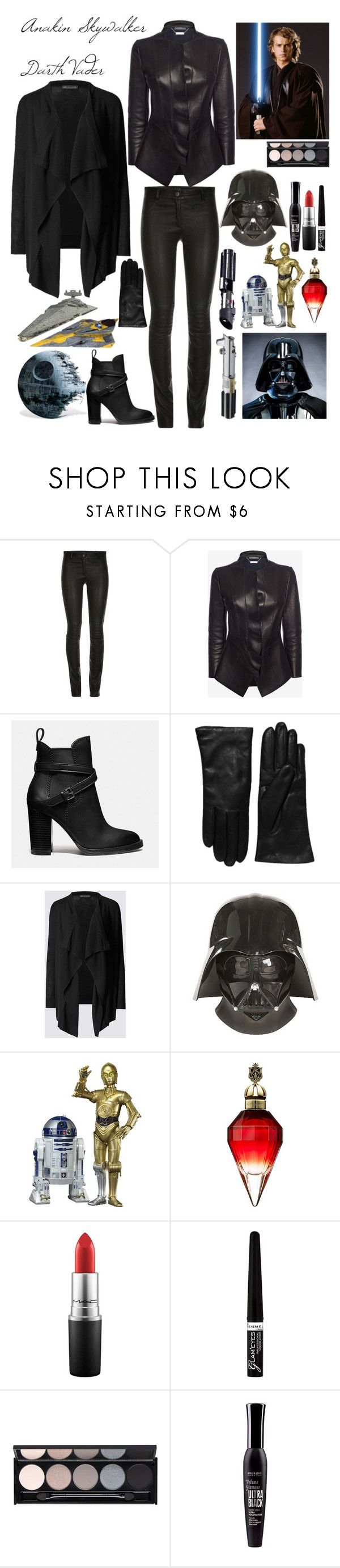 """""""Anakin Skywalker / Darth Vader"""" by lexisamskywalker on Polyvore featuring ElleSD, Alexander McQueen, Coach, Saks Fifth Avenue Collection, R2, MAC Cosmetics, Rimmel, Witchery and Bourjois"""