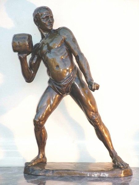 """An early 20th century French bronze, """"The Shot Putter"""" - Art and Antiques - Online Galleries Extranet"""