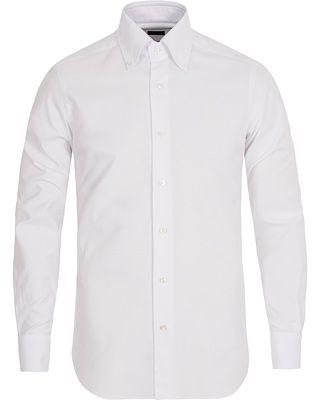Barba Napoli Slim Fit Button Down Oxford Shirt White