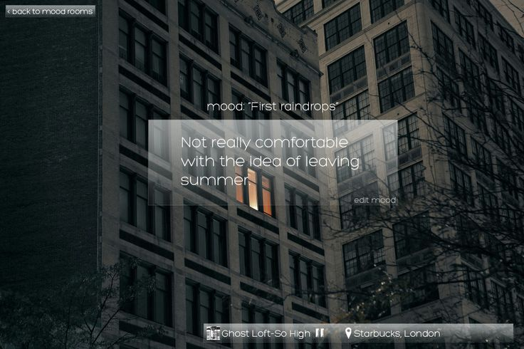 moodcubes - mood page, desktop view v.1