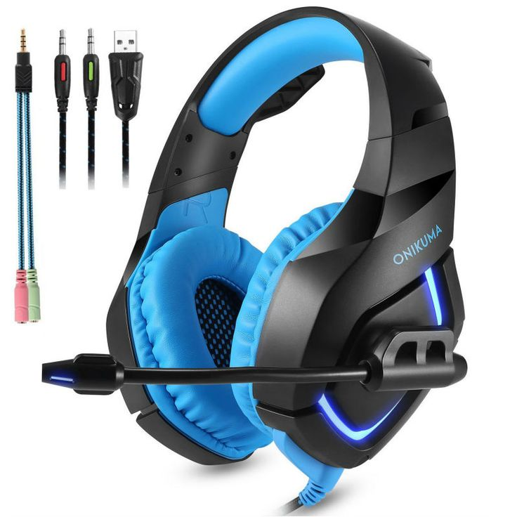 DESXZ ONIKUMA PC Gaming Headset for PS4 Xbox one 3.5mm Stereo USB LED Headphones with Omnidirectional Microphone Volume Control