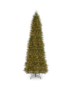 National Tree Company 12-Ft. Feel Real Jersey Fraser Fir Pencil Slim Tree With Clear Lights - Green - 144