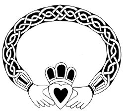 The Claddagh is a visual portrayal of the eternal bond of friendship, loyalty, and love.      The Heart symbolizes love, life's finest impulse.  From it, generosity and compassion flow.    The Hands of friendship are clasped around the heart in a gesture of giving. As they cradle the heart gently, the hands are both protective and strong, like true friendship.    The Crown symbolizes loyalty.  It represents the reward of love,  the highest achievement the human spirit has yet accomplished…