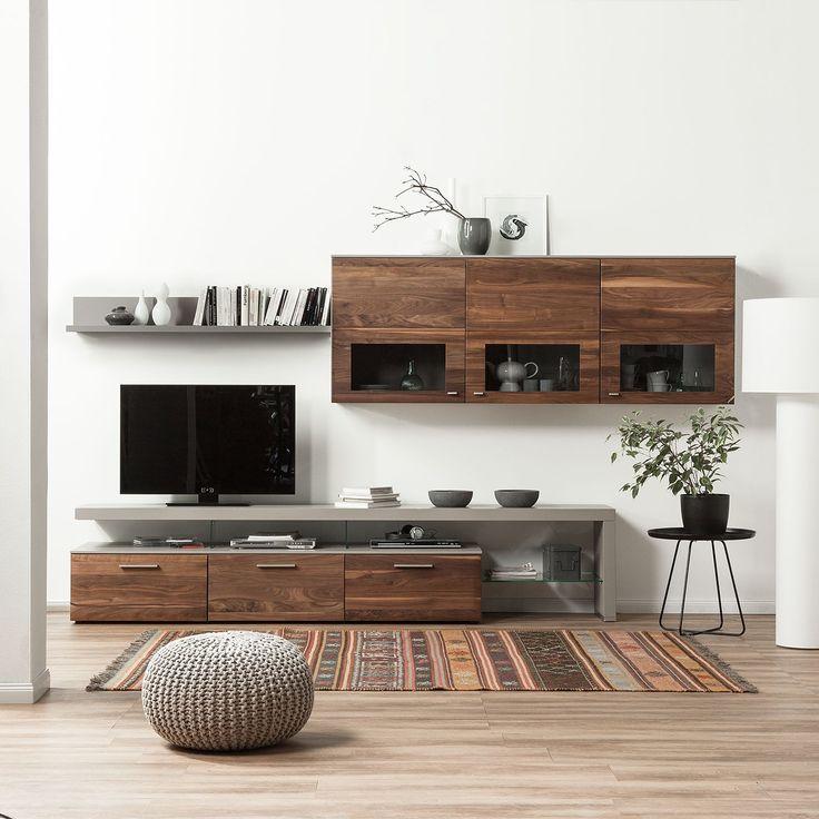Die besten 25+ Wohnwand nussbaum Ideen auf Pinterest Wohnzimmer - wohnzimmer wohnwand weiß