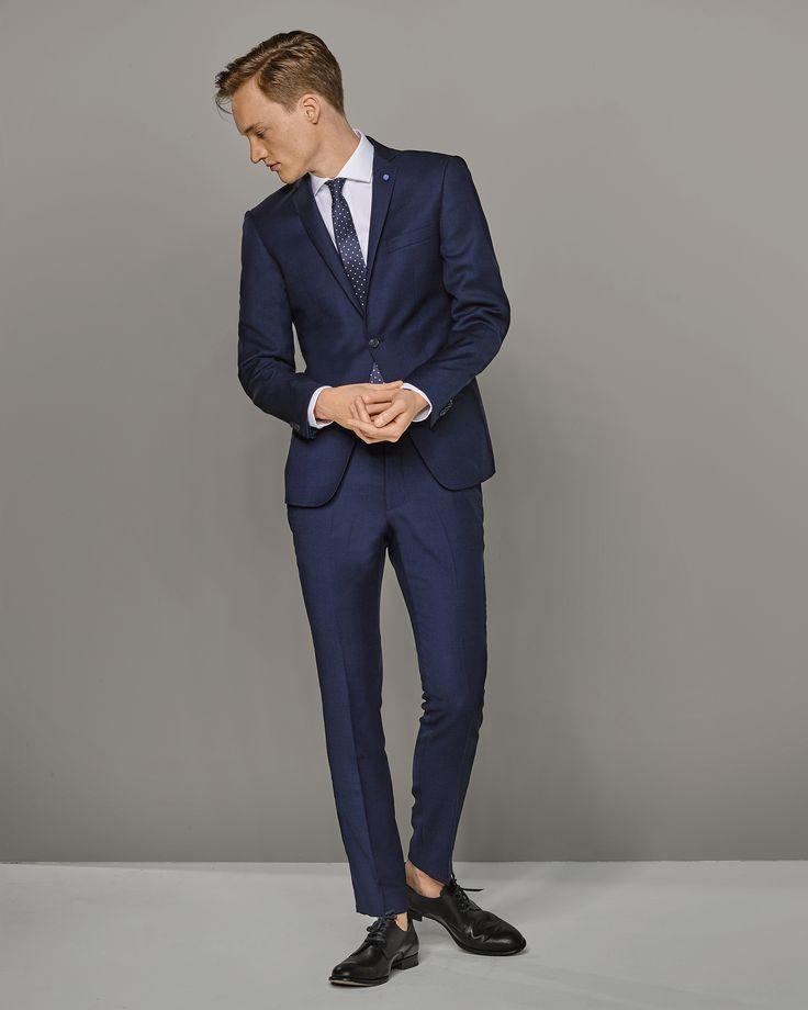 For the trousers  -  -PANTALON WE & VAN GILS HOMME TANO Bleu foncé