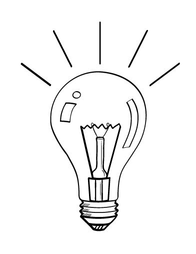 Printable Light Bulb Coloring Page Free PDF Download At