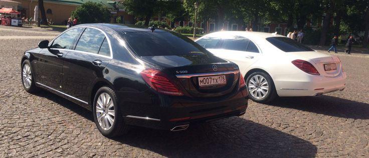 Аренда Мерседес S класса W222 черного и белого цвета на свадьбу в Санкт-Петербурге