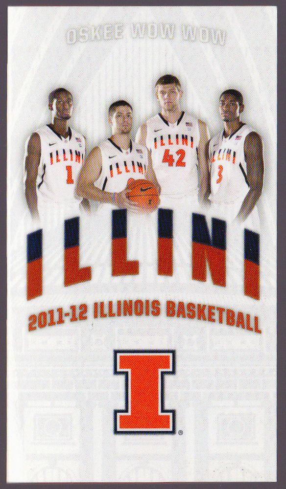2011-12 ILLINOIS FIGHTING ILLINI COUNTY MARKET BASKETBALL POCKET SCHEDULE #Schedule