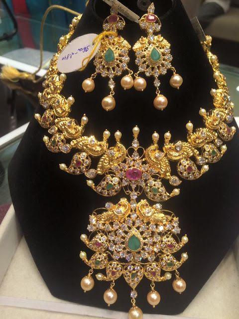 CZ Mango Necklace Hangings - Jewellery Designs