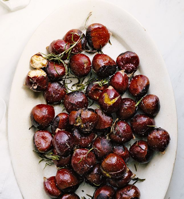 Buttery Roasted Chestnuts in Foil