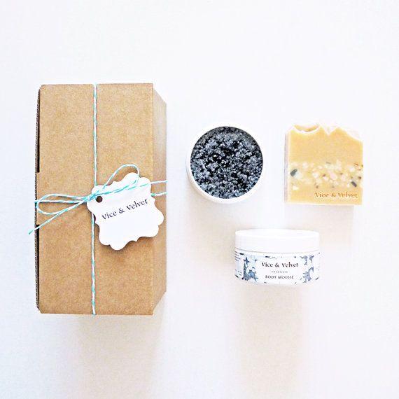 Little Juice Gift Box  Soap Body Polish Body by viceandvelvet, $36.90
