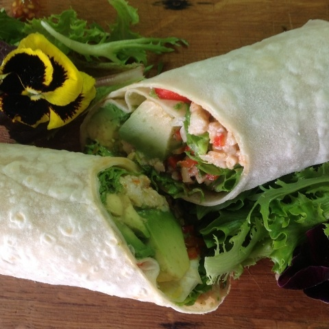 Sweet Chilli Chicken, Avocado and Paprika Pepper Wrap