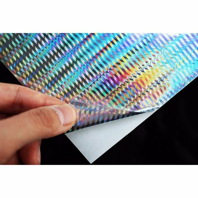 10pcs//lot Fishing Lure Tape Holographic Adhesive Film Fly Tying Material
