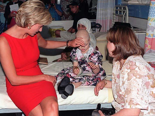 A tender touch for dying boy: Caring Kate in echo of Princess Diana