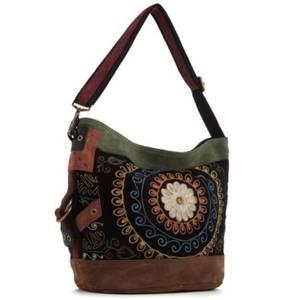 Lucky Brand embroidered velvet runaway bag. LOVE!