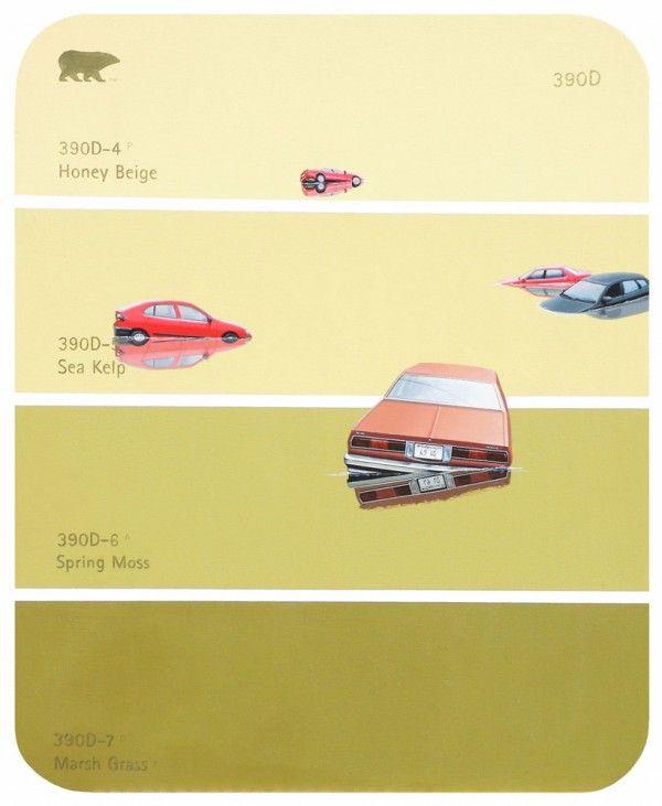 Shawn Huckins - Paint Chip Series - Flood Cars