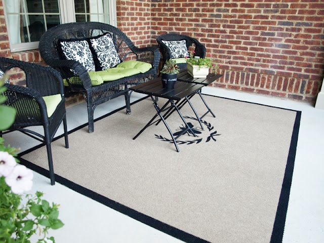 DIY outdoor rug. Under $20. ***Pinning this but it's not attached to the specific blog post. Really? Pin responsibly, people!!!