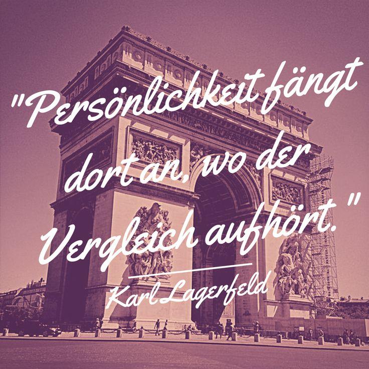 Das Wort zum Montag, von Karl Lagerfeld. #Zitat #quote #stramamax