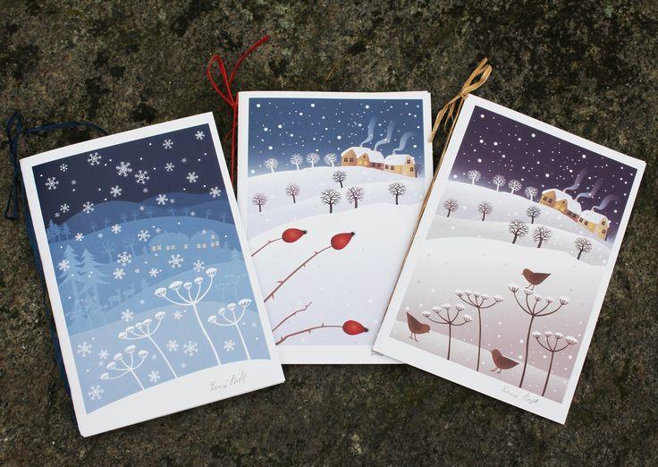 Vánoční přání (3 ks) Vánoční přání. Autorská ilustrace, kvalitní digitální tisk na matném křídovém papíře, ručně podepsáno. Velikost přáníčka: A6. Balíček obsahuje sérii 3 kusů včetně obálek.
