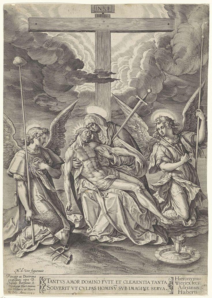 Piëta, Hieronymus Wierix, Adriaen Huybrechts (I), 1584