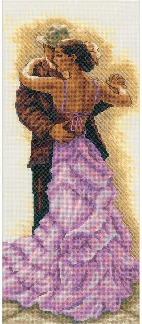 RTO Sensual Dance - Cross Stitch Kit. Cross Stitch Kit featuring a romantic couple dancing. This Cross Stitch Kit comes complete with Zweigart Aida, pre-sorted