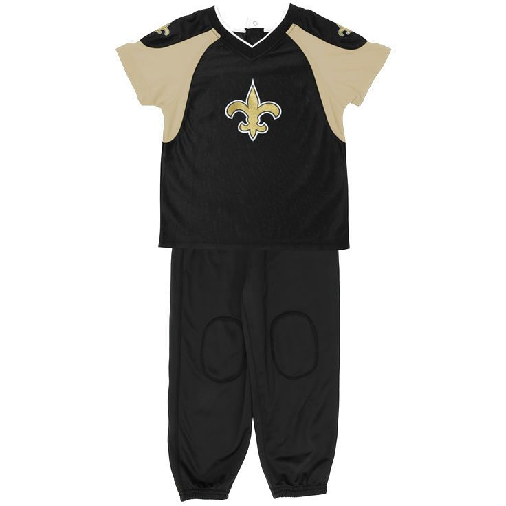 New Orleans Saints Toddler Football Jersey and Pant Set - Black - $26.59