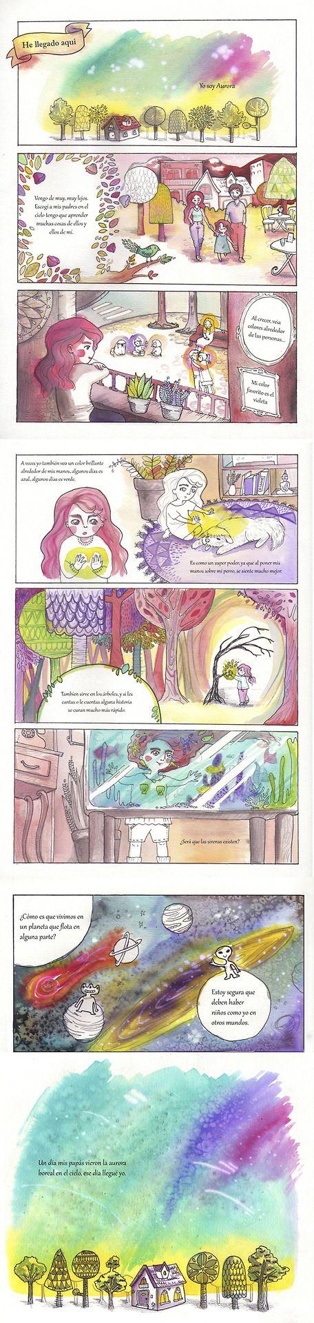 Comic realizado en tintas y láìz. Macarena Vogel