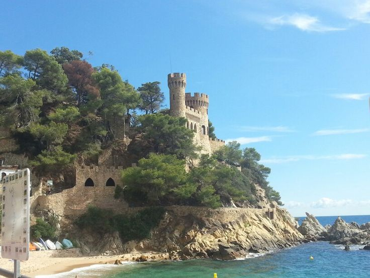 Lloret de Mar.  Spain.  A private building made to look like a castle!