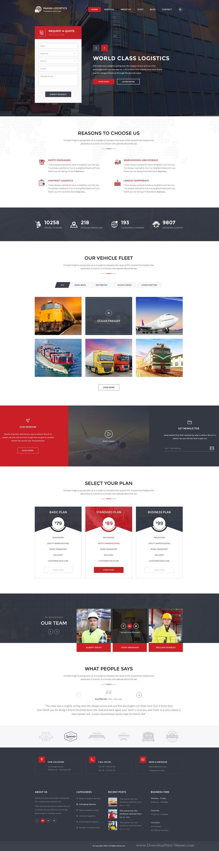 Paavai is a fresh and unique PSD #template designed for Logistics, #Cargo and Movers Company #websites. Download Now!