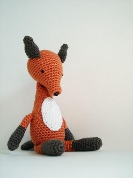 crochet fox.