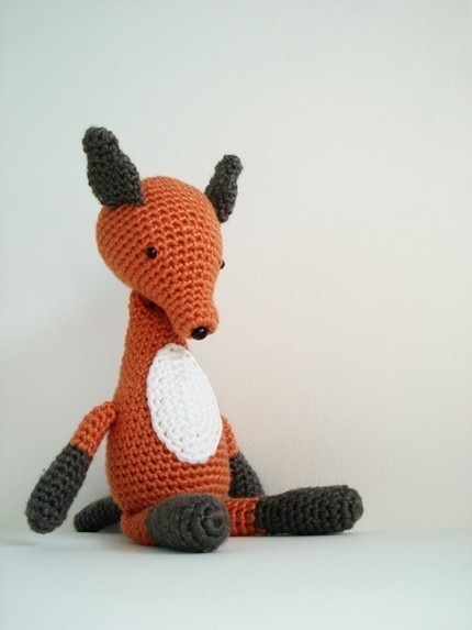 crochet fox. I think I might have to learn how to crochet.