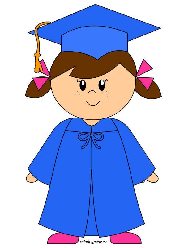 Kindergarten Girl Graduation