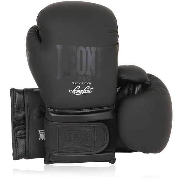 Leone 1947 Women 10oz Faux Leather Boxing Gloves ($52) ❤ liked on Polyvore featuring black
