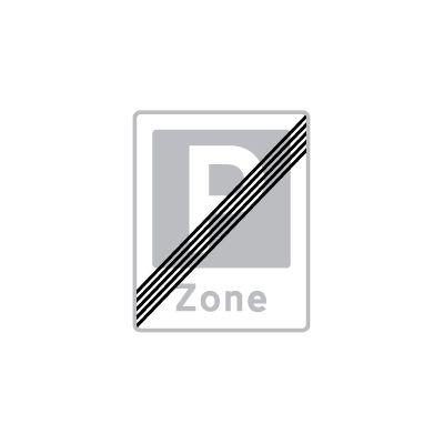 Ophør af zone med parkering E 69,3