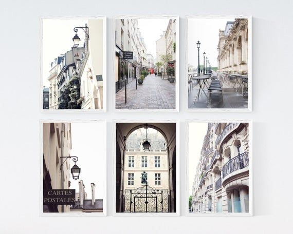 Paris Wall Art Prints Gallery Wall Set Paris Art Photography Etsymktgtool Gallerywallset Gallerywallprints White Neutral Postales