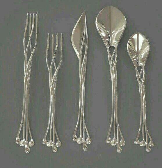 Elvish forks, knife and spoons set. https://www.facebook.com/photo.php?fbid=10207028925386275