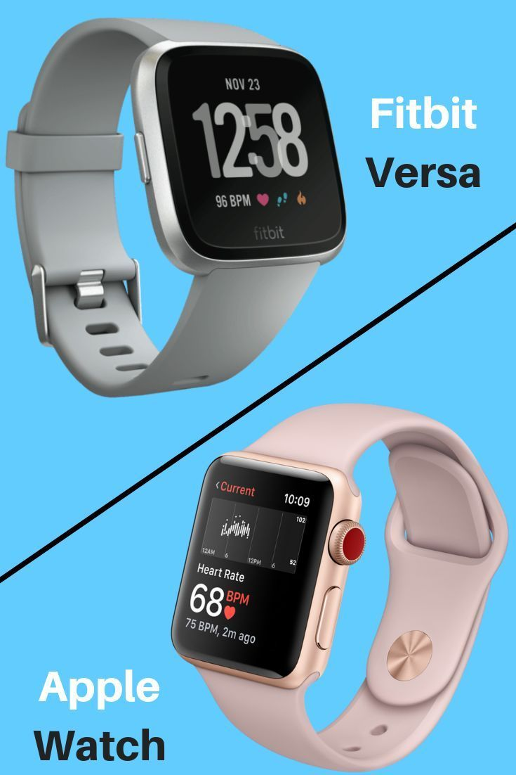 Fitbit Versa Vs Apple Watch 3 Which One Is The Best In 2020 Apple Watch Vs Fitbit Apple Watch Apple Watch Fitness