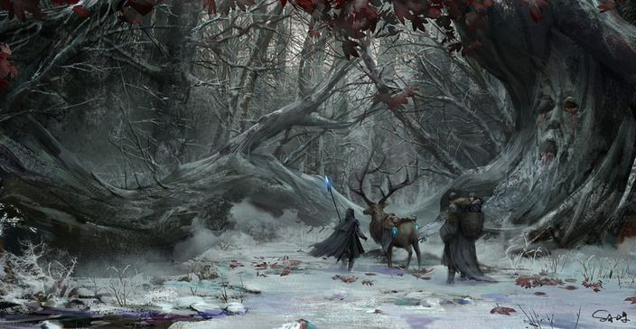 Children of the Forest, Coldhands and bran stark