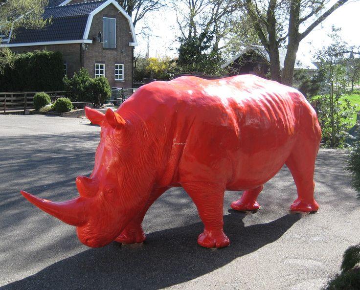 Neushoorn Rhino Kunst Beeld