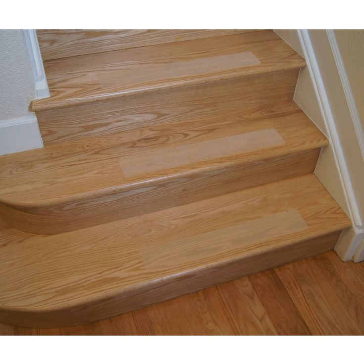 Non-Slip Clear Grit, Opaque Adhesive Stair Treads and Tape Roller