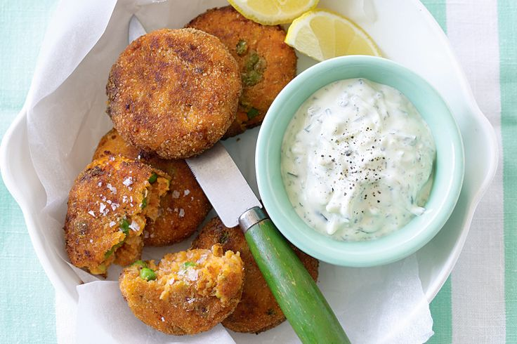 These vegetarian patties are delicious with a dollop of tzatziki and a squeeze of lemon.