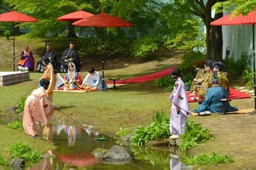 """Meandering Stream Party"" at Mtsji Temple http://www.jnize.com/en/article/100000125/"