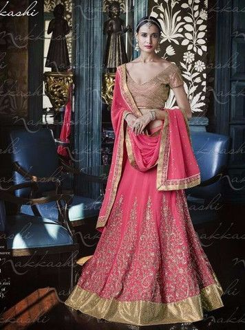The lehenga choli has been lovely and gorgious attire for women in all seasons and occasions. Indian party wear Lehenga Choli especially Fish-cut lehanga is most famous due to its stylish cut style this lehenga is also known as Jalpari lehenga.