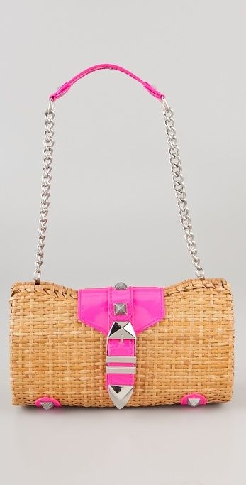 Rebecca Minkoff Straw with Neon Fairy Tale Bag thestylecure.com