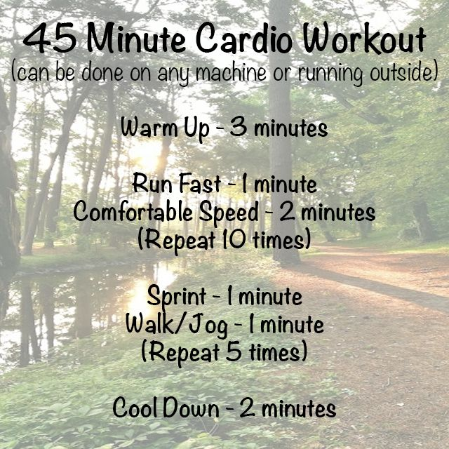 45 Minute Cardio Workout