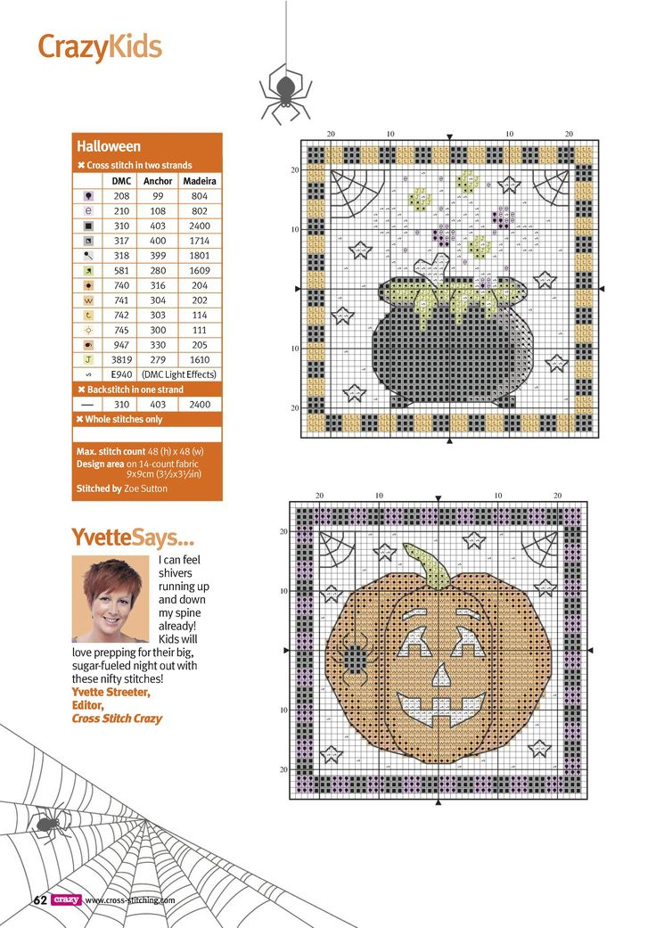 3 of 4 Trick Or Treat From Cross Stitch Crazy N°220 October 2016