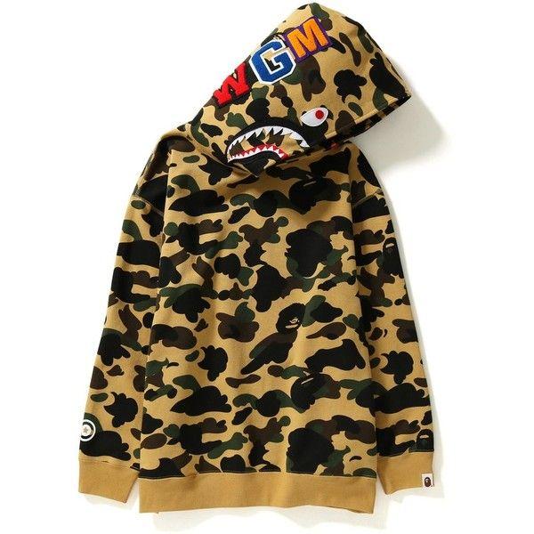 1ST CAMO SHARK OVERSIZED HOODIE LADIES ($99) ❤ liked on Polyvore featuring tops, hoodies, camo hooded sweatshirt, camo top, camo browning hoodie, brown top and camo hoodies