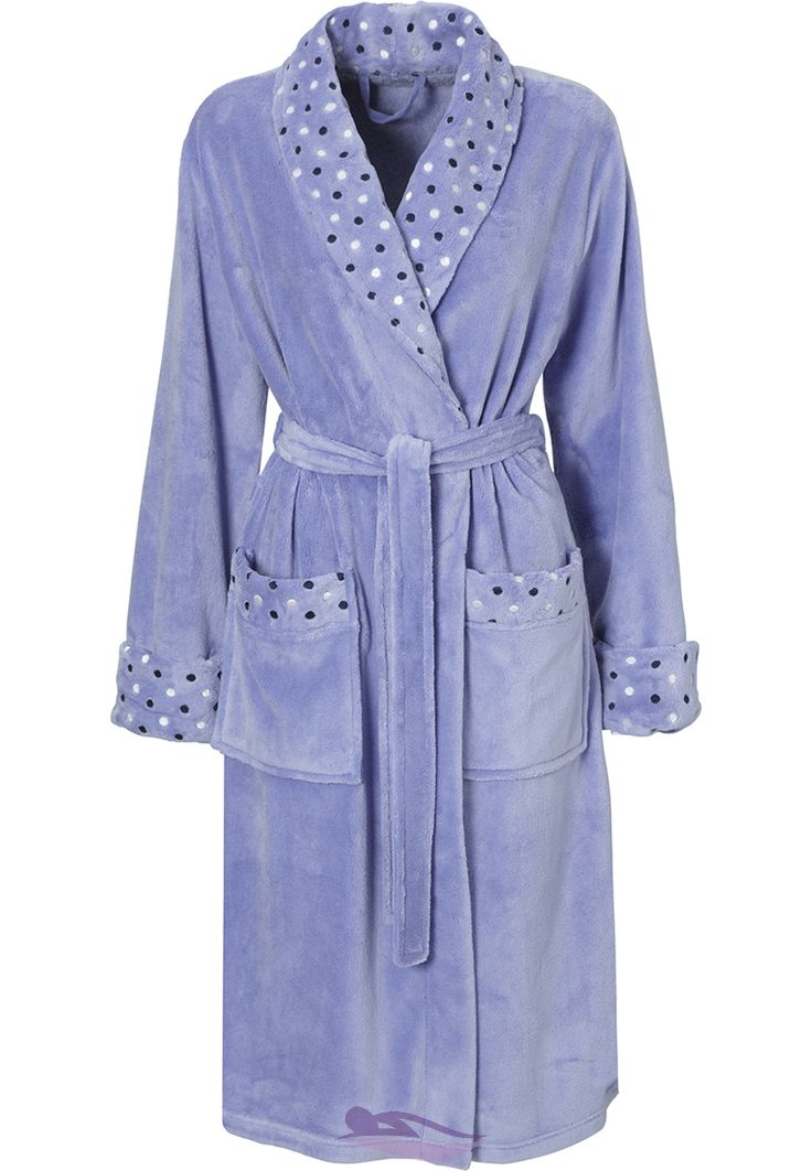 """beautifully dotty"" Pastunette purple dressing gown."
