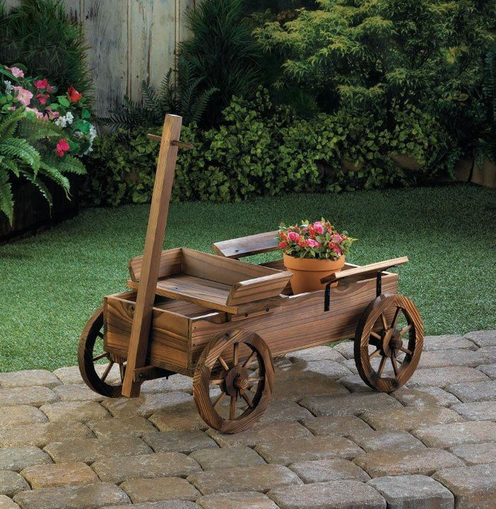 Cool Item Old Country Rustic Wagon Planter 10018433 In 2020 Garden Wagon Rustic Planters Wagon Planter